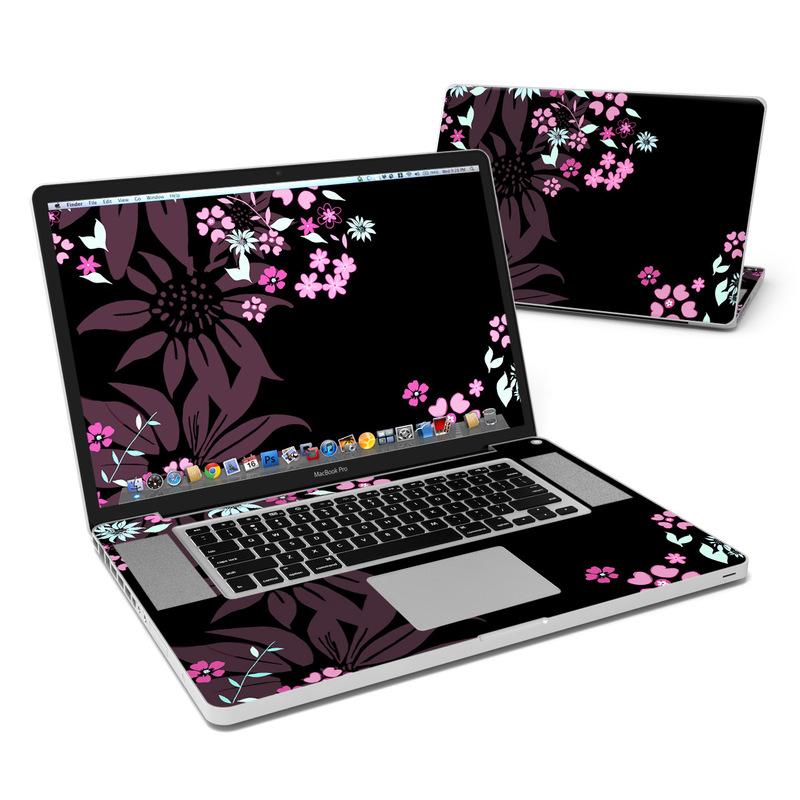 Dark Flowers MacBook Pro 17-inch Skin