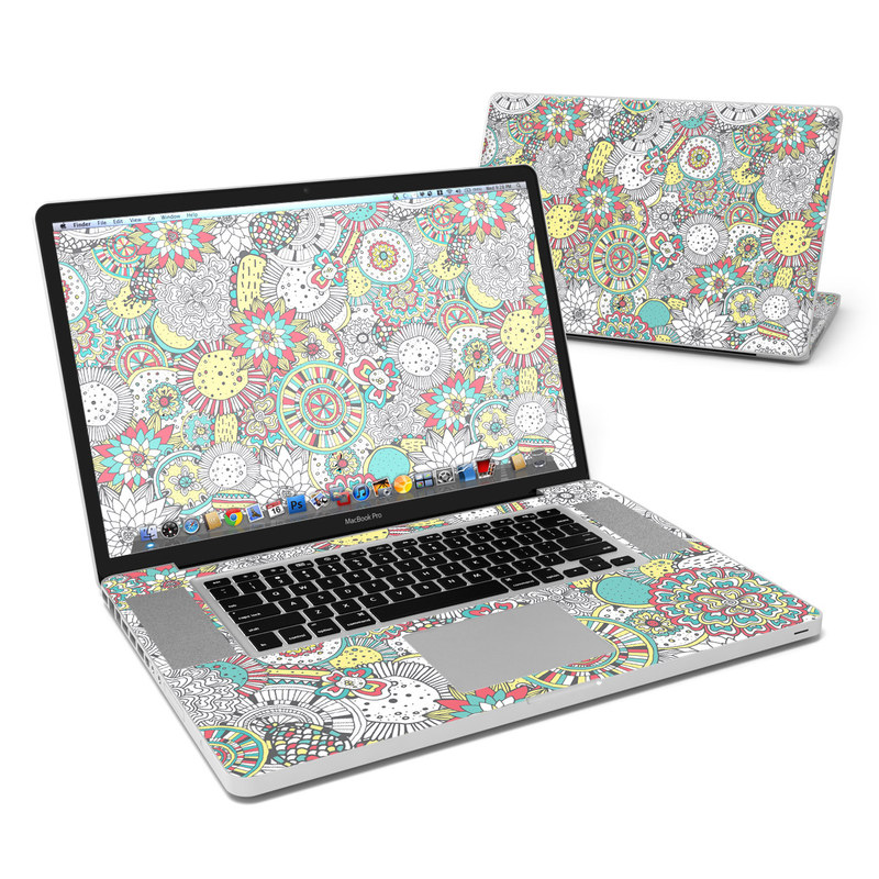 Faded Floral MacBook Pro 17-inch Skin