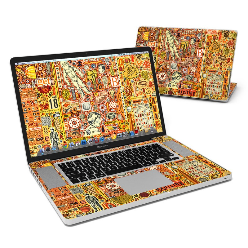 The Golding Time MacBook Pro 17-inch Skin