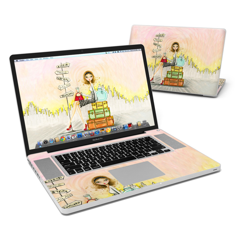 The Jet Setter MacBook Pro 17-inch Skin