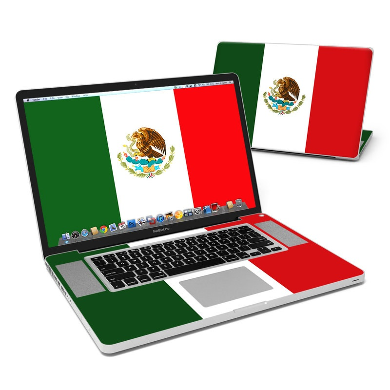 Mexican Flag MacBook Pro 17-inch Skin