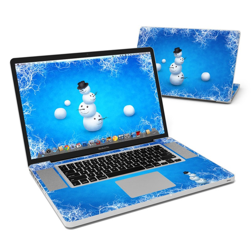 Merry Snowman MacBook Pro 17-inch Skin