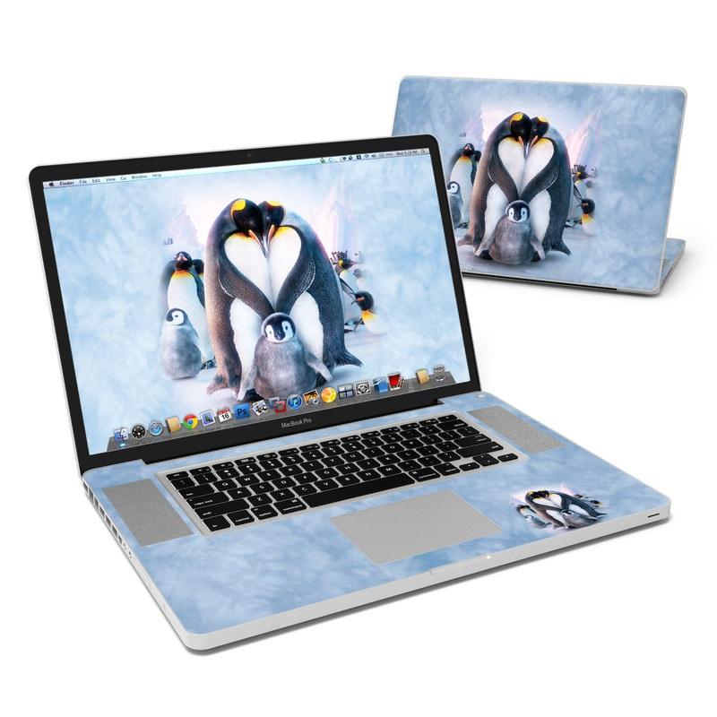 Penguin Heart MacBook Pro 17-inch Skin