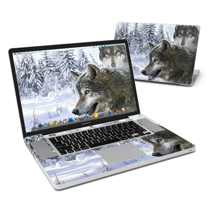 Snow Wolves MacBook Pro 17-inch Skin