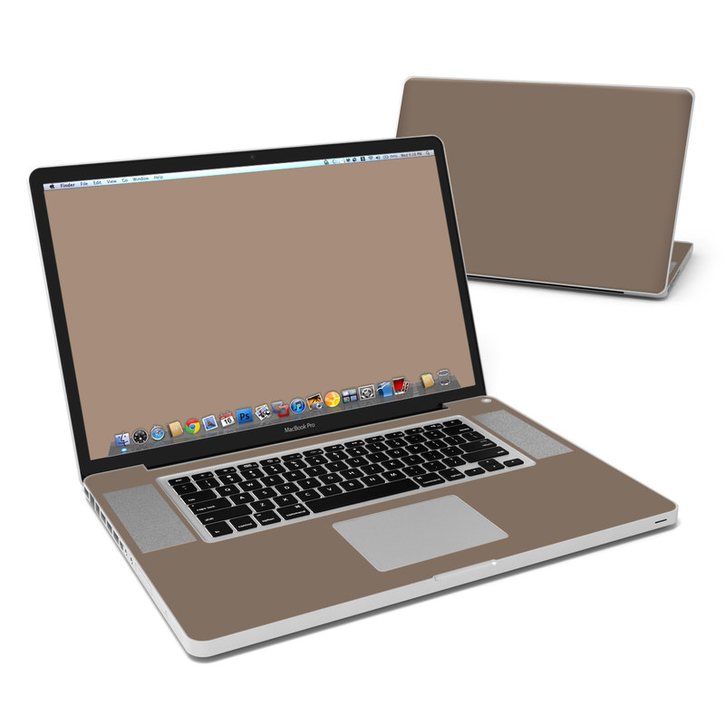 MacBook Pro Pre 2012 17-inch Skin design of Brown, Text, Beige, Material property, Font with brown colors