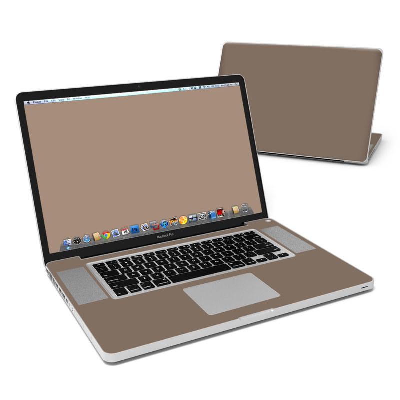 Solid State Flat Dark Earth MacBook Pro Pre 2012 17-inch Skin
