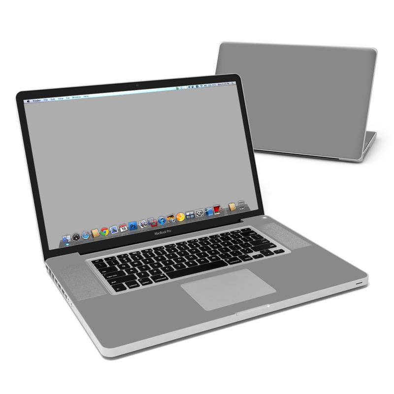 Solid State Grey MacBook Pro Pre 2012 17-inch Skin