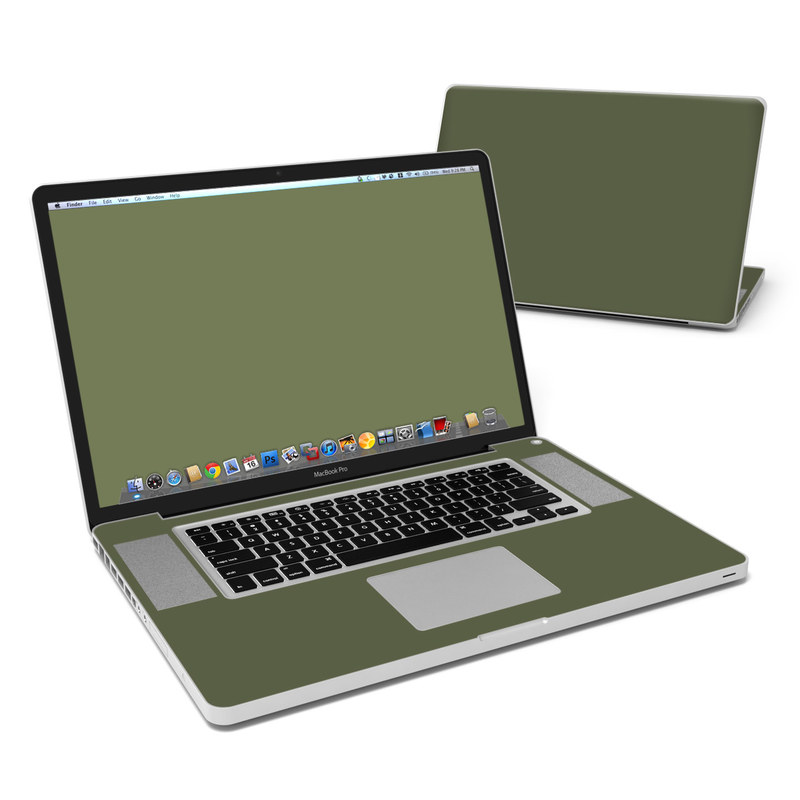 Solid State Olive Drab MacBook Pro Pre 2012 17-inch Skin
