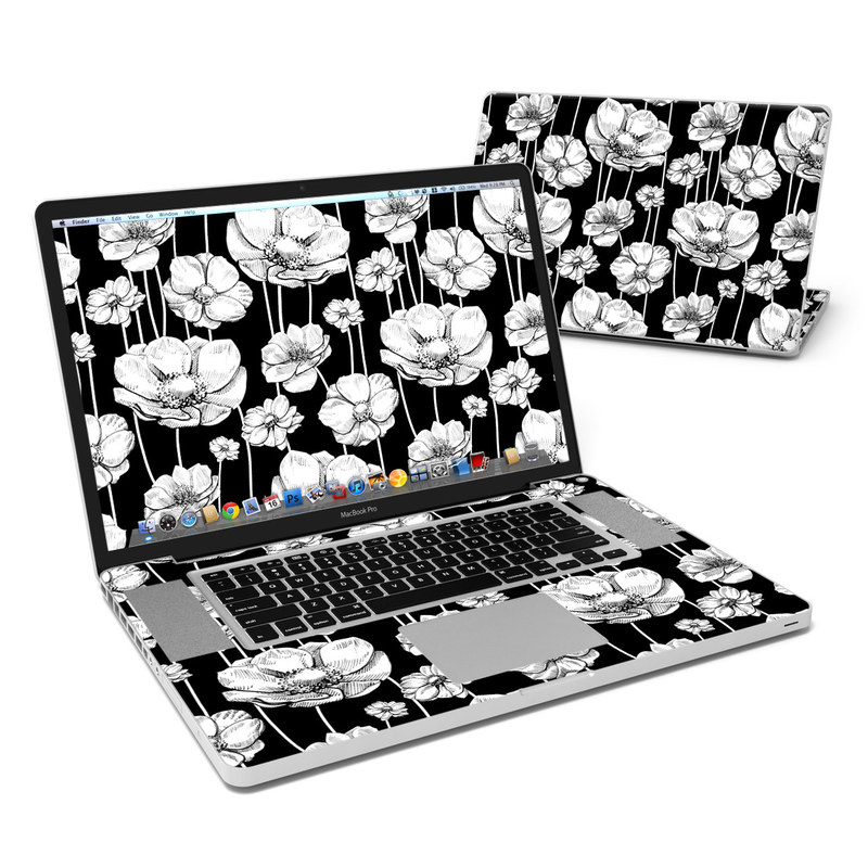 Striped Blooms MacBook Pro Pre 2012 17-inch Skin