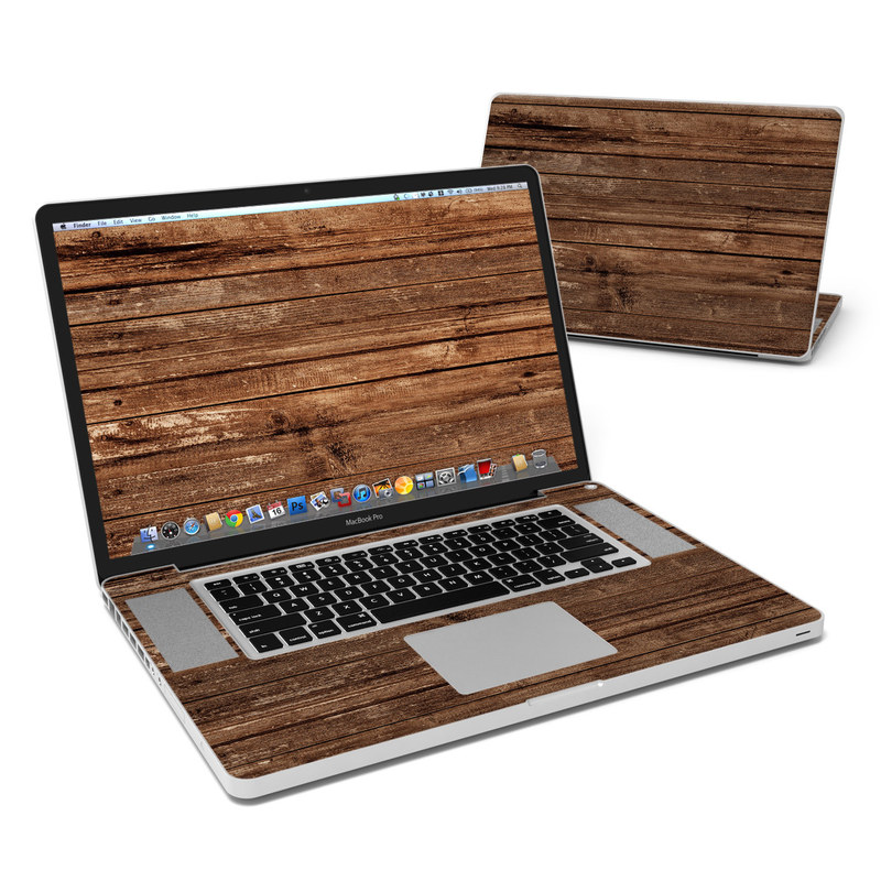 Stripped Wood MacBook Pro 17-inch Skin