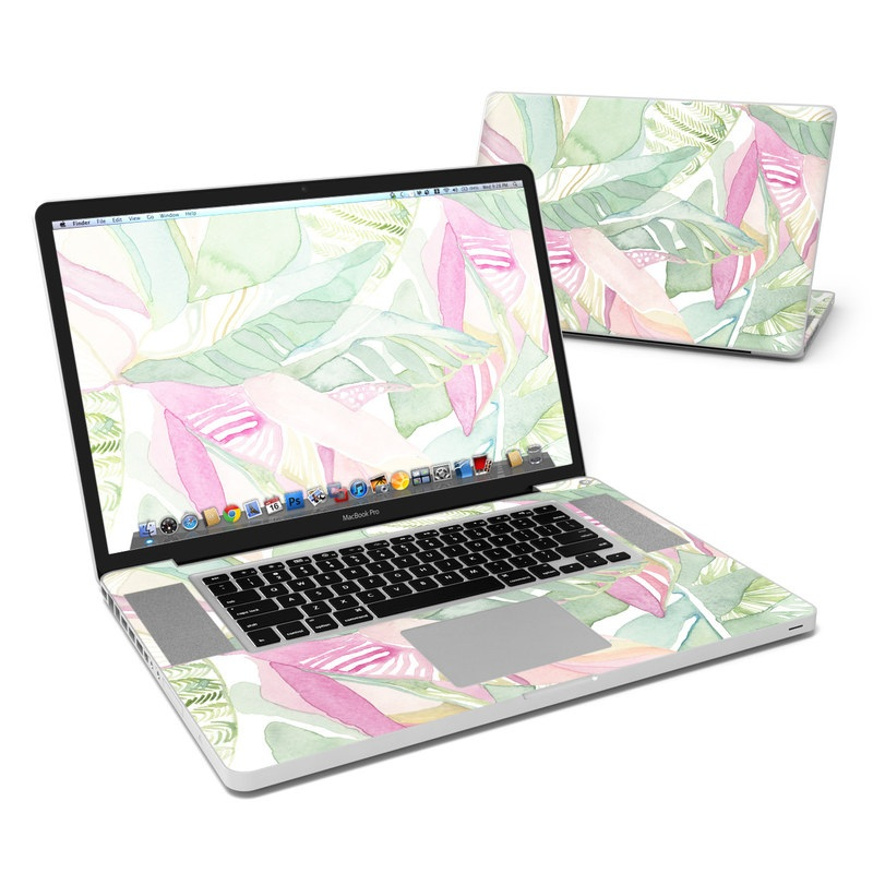 Tropical Leaves MacBook Pro Pre 2012 17-inch Skin
