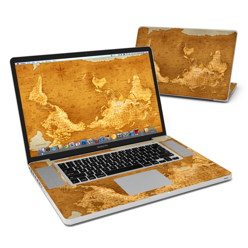 Upside Down Map MacBook Pro 17-inch Skin