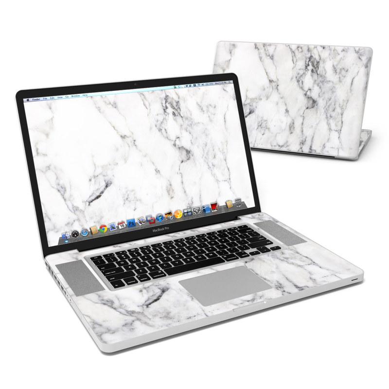 White Marble MacBook Pro Pre 2012 17-inch Skin