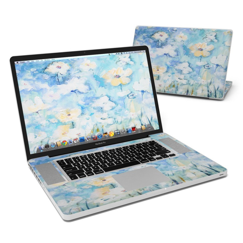 White & Blue MacBook Pro 17-inch Skin