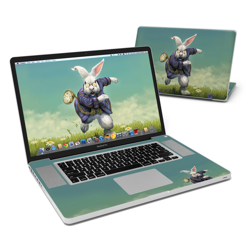 White Rabbit MacBook Pro 17-inch Skin