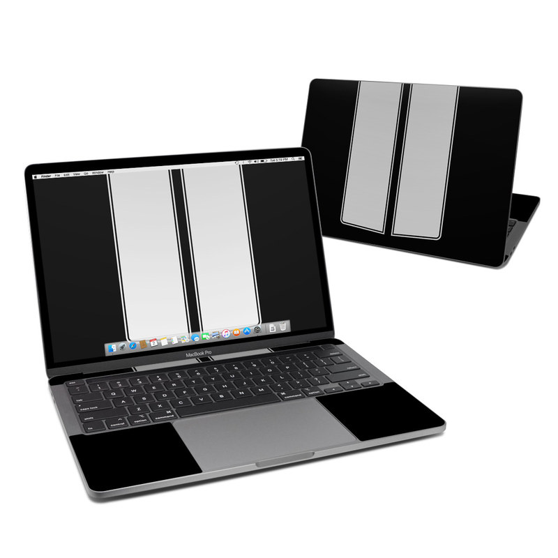 MacBook Pro 13-inch Skin design of Font, Architecture, Rectangle with black, gray colors
