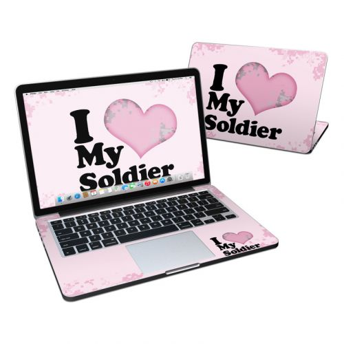 I Love My Soldier MacBook Pro Retina 13-inch Skin