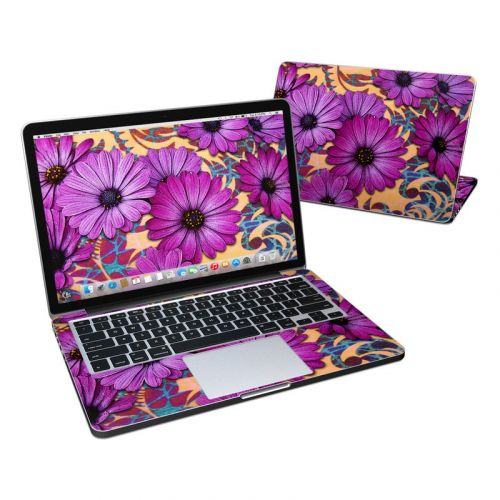 Purple Daisy Damask MacBook Pro Retina 13-inch Skin
