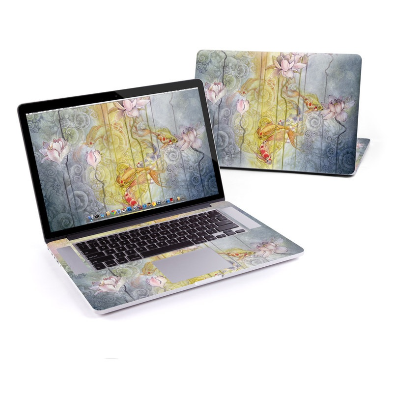 MacBook Pro Pre 2016 Retina 13-inch Skin design of Watercolor paint, Painting, Art, Yellow, Flower, Acrylic paint, Floral design, Visual arts, Modern art, Illustration with blue, red, orange, pink, yellow colors