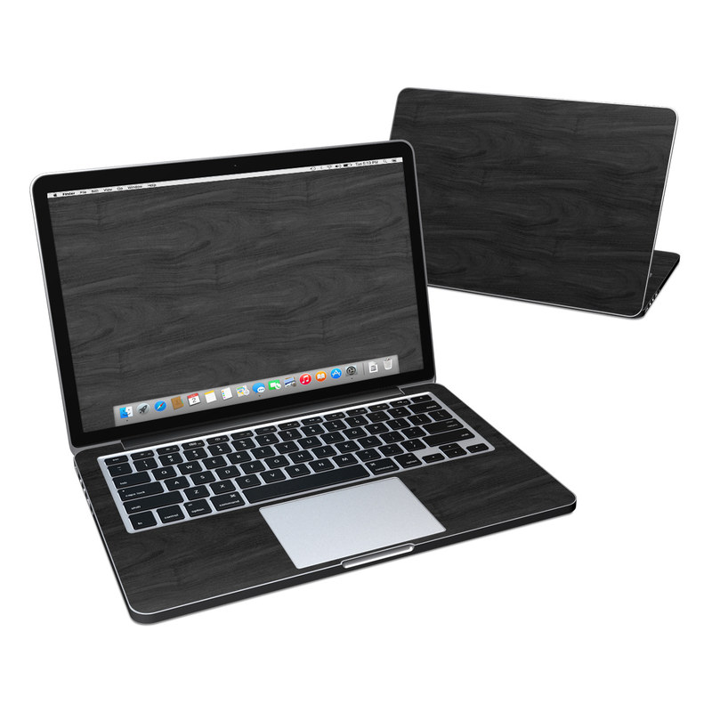 Black Woodgrain MacBook Pro Pre 2016 Retina 13-inch Skin
