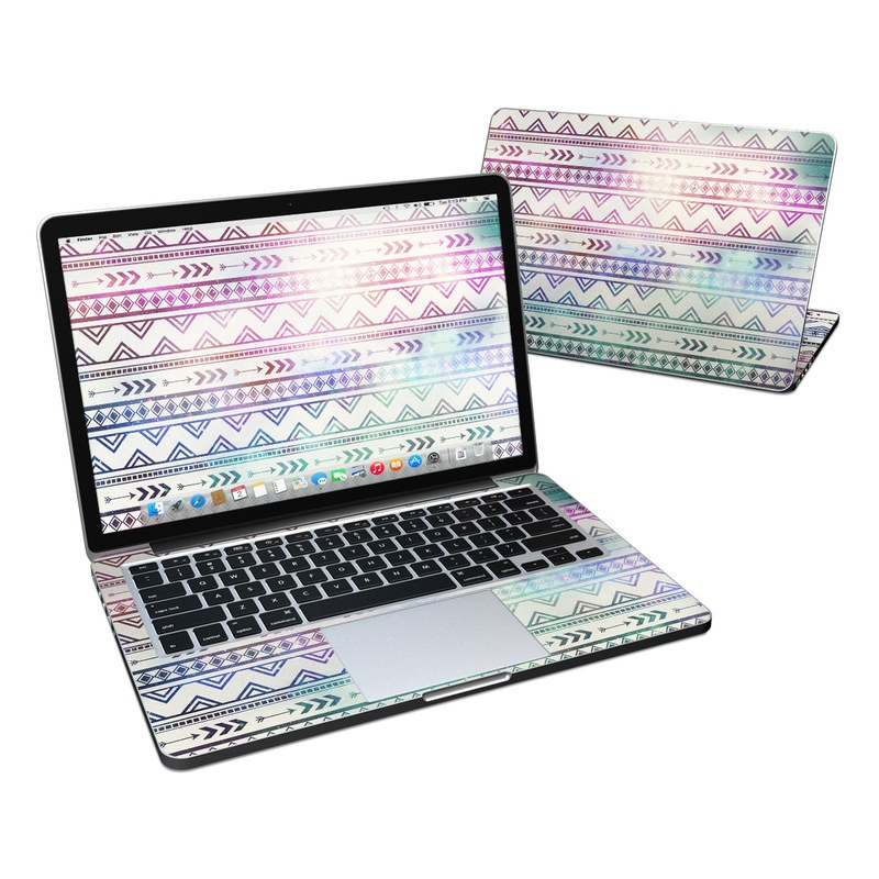MacBook Pro Pre 2016 Retina 13-inch Skin design of Pattern, Line, Teal, Design, Textile with gray, pink, yellow, blue, black, purple colors