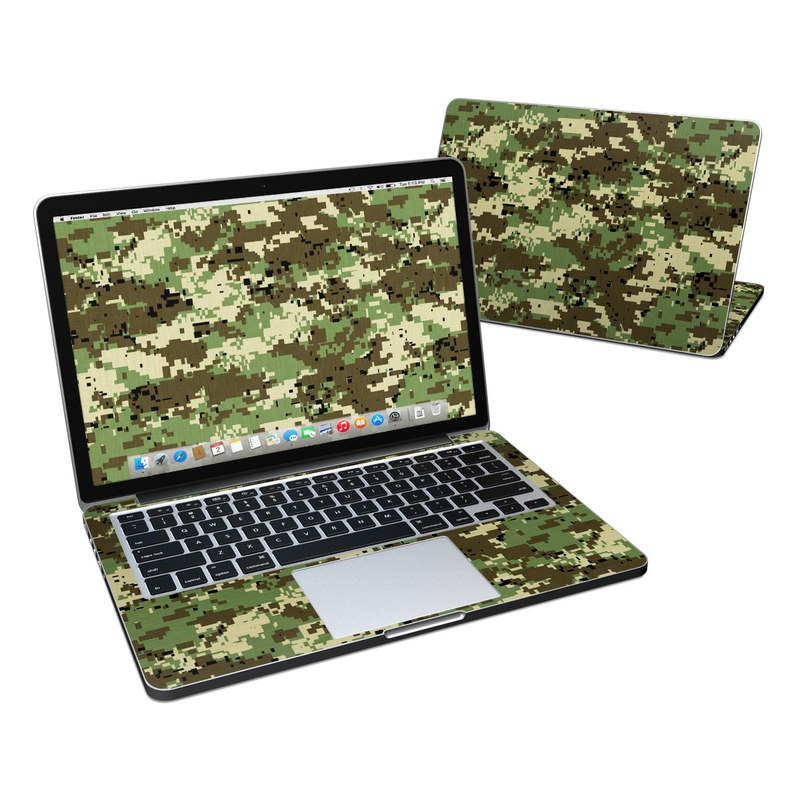 Digital Woodland Camo MacBook Pro Retina 13-inch Skin