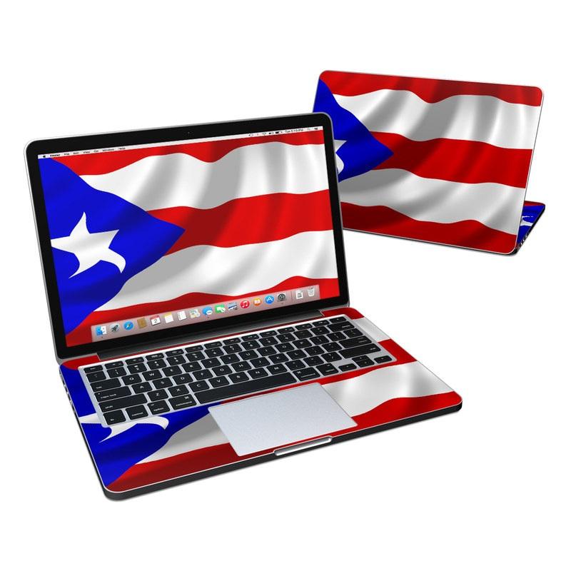 Puerto Rican Flag MacBook Pro Retina 13-inch Skin