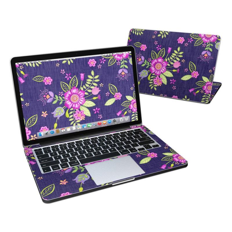 Folk Floral MacBook Pro Retina 13-inch Skin