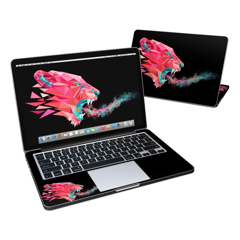 MacBook Pro Pre 2016 Retina 13-inch Skin design of Pink, Graphic design, Illustration, Design, Organism, Graphics, Font, Art, Animation, Pattern with black, red, pink, gray colors