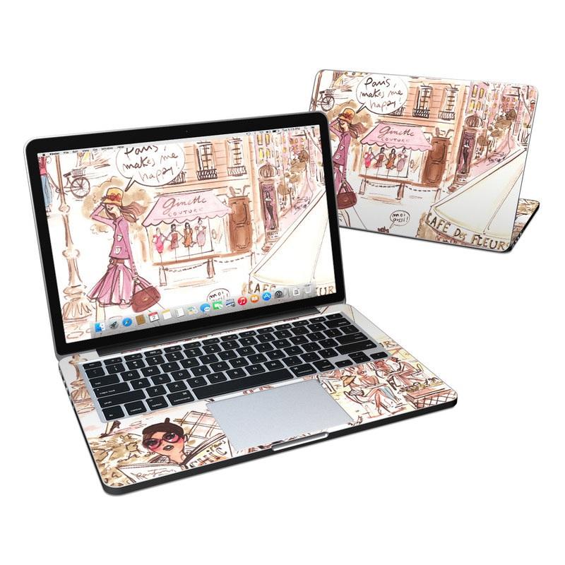 Paris Makes Me Happy MacBook Pro Pre 2016 Retina 13-inch Skin