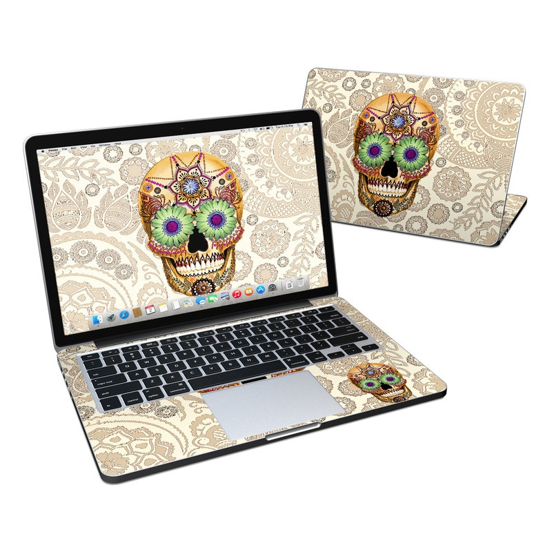 Sugar Skull Bone MacBook Pro Retina 13-inch Skin