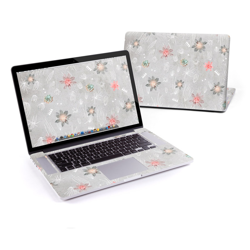 MacBook Pro Pre 2016 Retina 13-inch Skin design of Pink, Pattern, Wrapping paper, Textile, Design, Wallpaper, Floral design, Plant, Flower with gray, red, white, pink colors