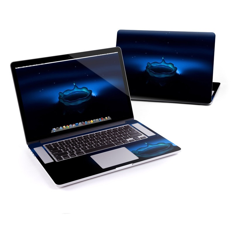 MacBook Pro Pre 2016 Retina 13-inch Skin design of Water, Blue, Drop, Sky, Liquid, Calm, Space with black, blue colors