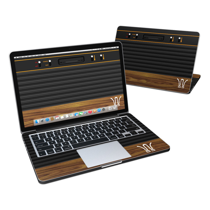 Wooden Gaming System MacBook Pro Retina 13-inch Skin