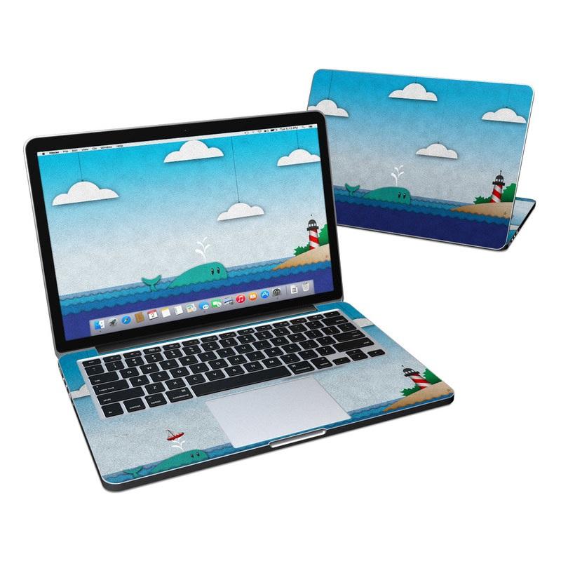 MacBook Pro Pre 2016 Retina 13-inch Skin design of Illustration, Sky, Cloud, Games, Art with gray, blue, black colors