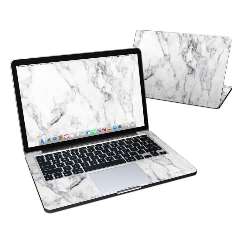 MacBook Pro Pre 2016 Retina 13-inch Skin design of White, Geological phenomenon, Marble, Black-and-white, Freezing with white, black, gray colors