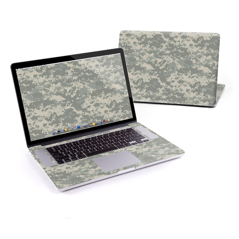MacBook Pro Pre 2016 Retina 15-inch Skin design of Military camouflage, Green, Pattern, Uniform, Camouflage, Design, Wallpaper with gray, green colors