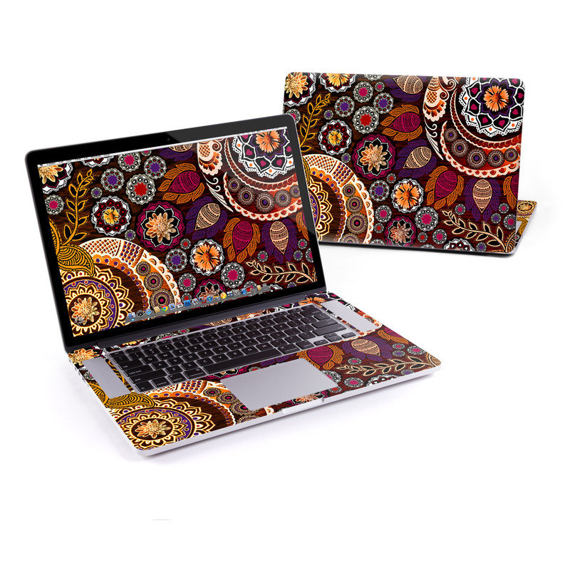 Autumn Mehndi MacBook Pro Pre 2016 Retina 15-inch Skin