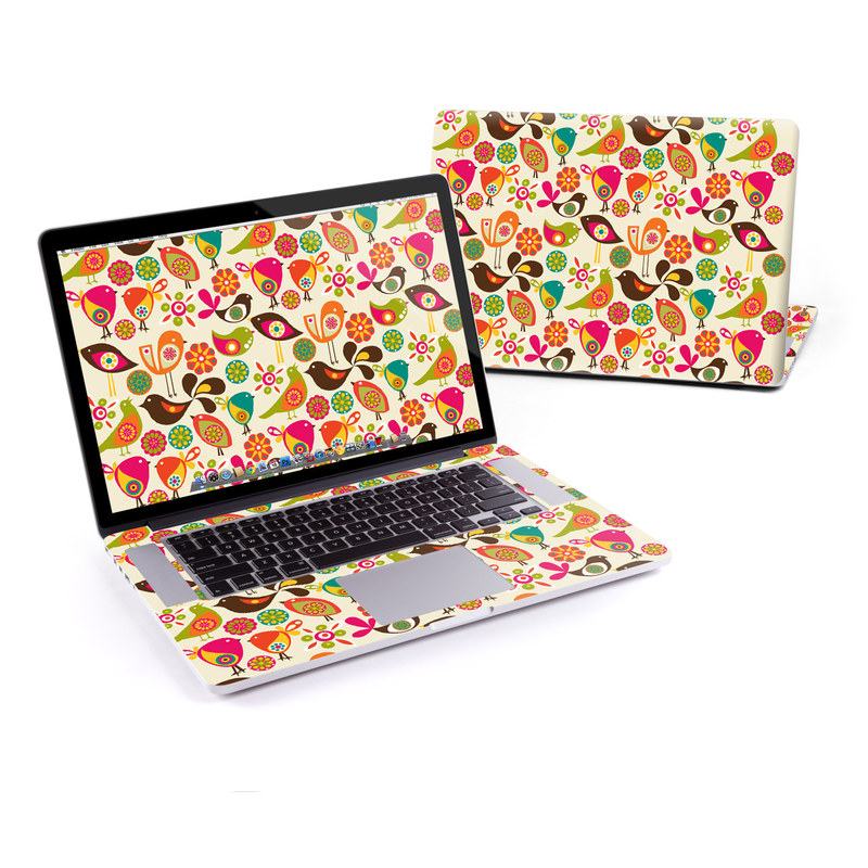 Bird Flowers MacBook Pro Retina 15-inch Skin