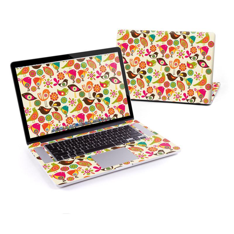 Bird Flowers MacBook Pro Retina 15-inch Skin