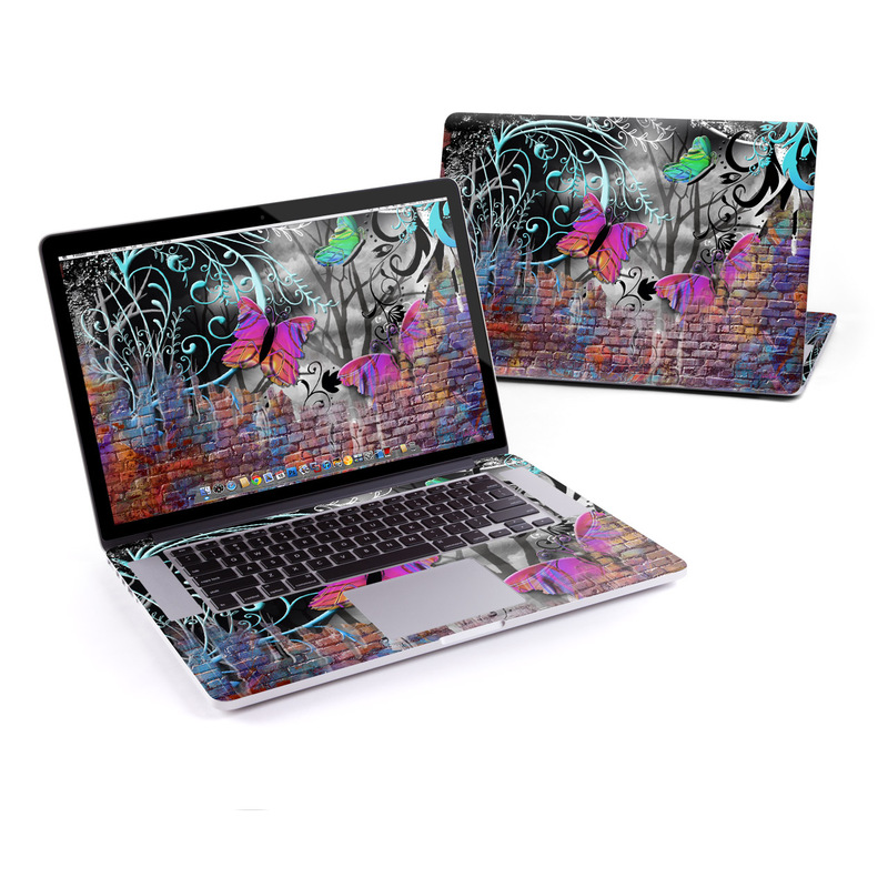 Butterfly Wall MacBook Pro Pre 2016 Retina 15-inch Skin