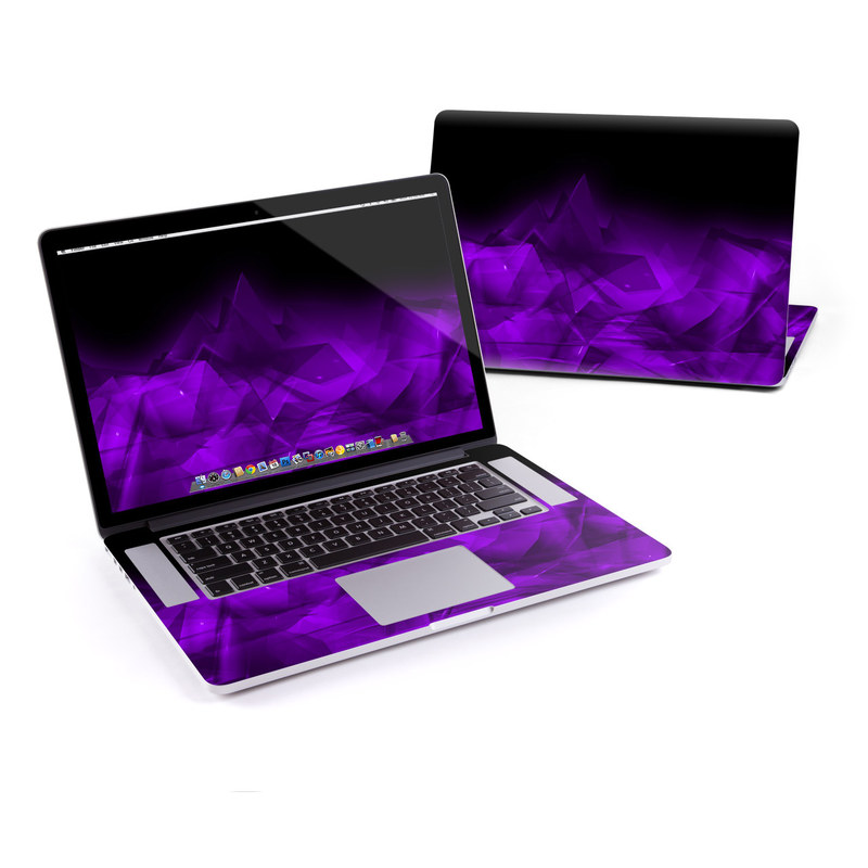 Dark Amethyst Crystal MacBook Pro Retina 15-inch Skin