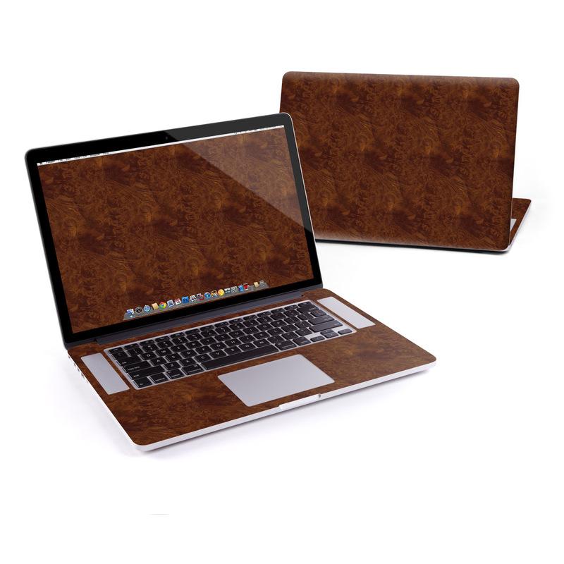 MacBook Pro Pre 2016 Retina 15-inch Skin design of Brown, Wood, Wood flooring, Caramel color, Pattern, Hardwood, Wood stain, Flooring, Floor, Plywood with brown colors