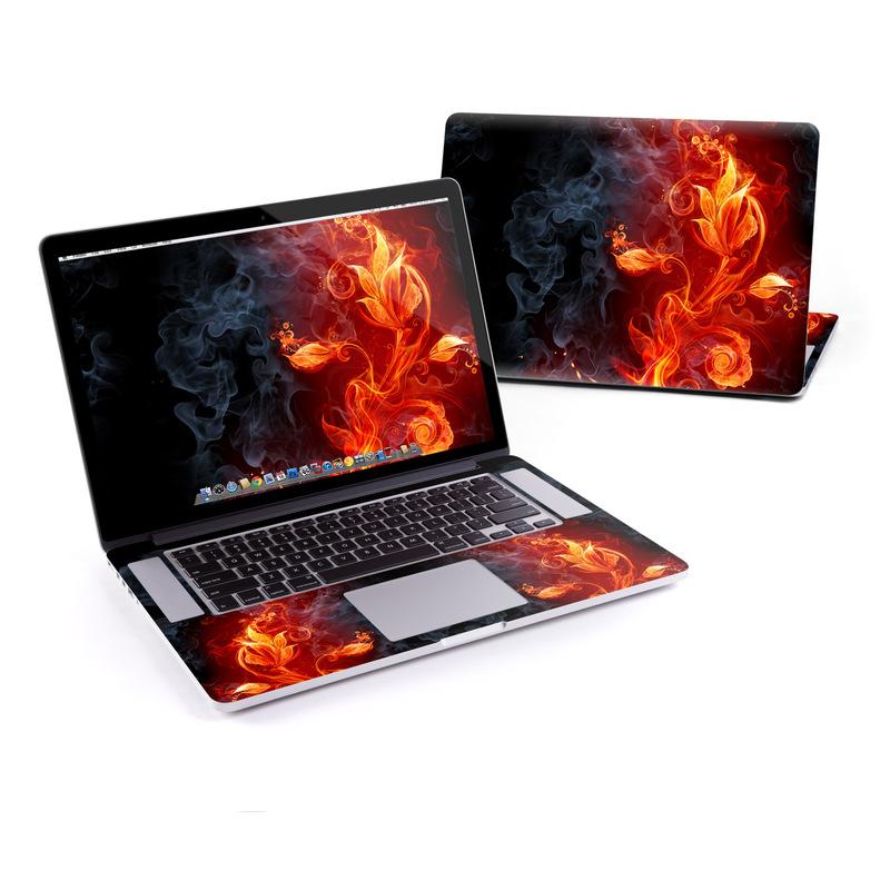 MacBook Pro Pre 2016 Retina 15-inch Skin design of Flame, Fire, Heat, Red, Orange, Fractal art, Graphic design, Geological phenomenon, Design, Organism with black, red, orange colors