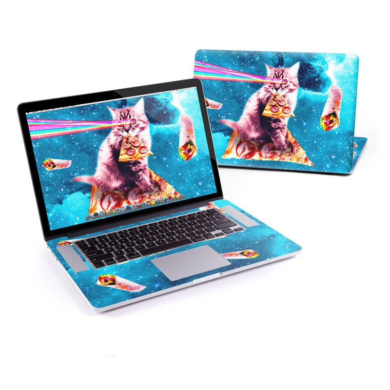 MacBook Pro Pre 2016 Retina 15-inch Skin design of Illustration, Organism, Graphic design, Art, Space, Fictional character, Extreme sport, Graphics with blue, white, gray, yellow, red, orange colors