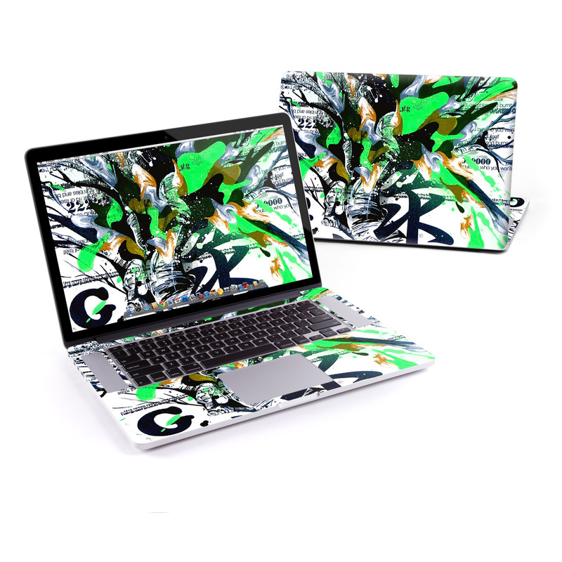 Green 1 MacBook Pro Pre 2016 Retina 15-inch Skin