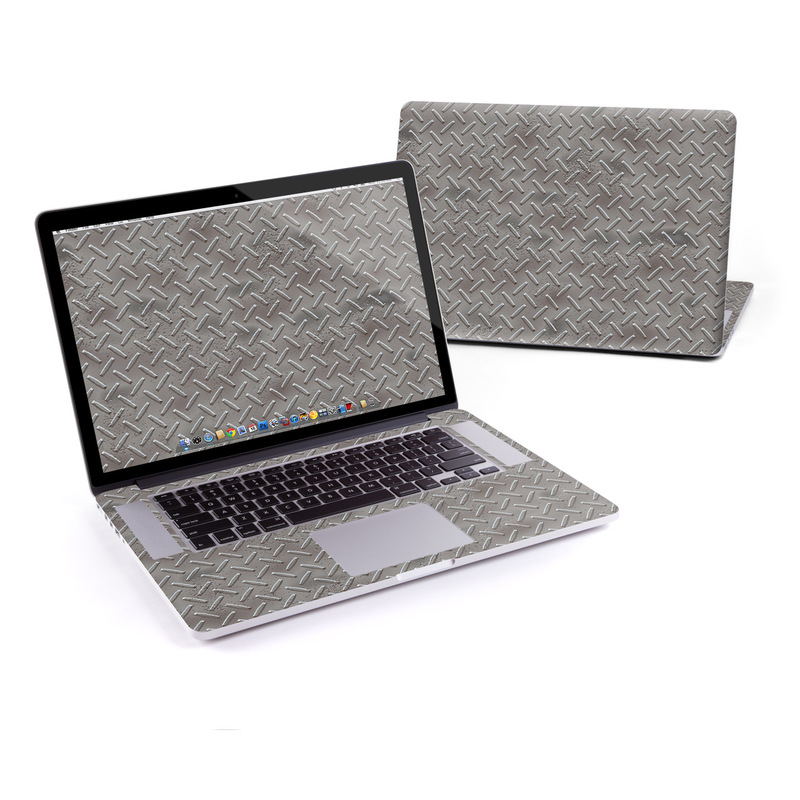 MacBook Pro Pre 2016 Retina 15-inch Skin design of Font, Text, Metal, Pattern, Design, Number, Steel with gray colors