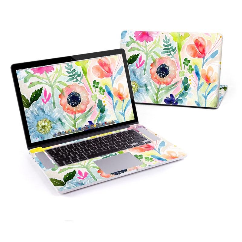 Loose Flowers MacBook Pro Retina 15-inch Skin