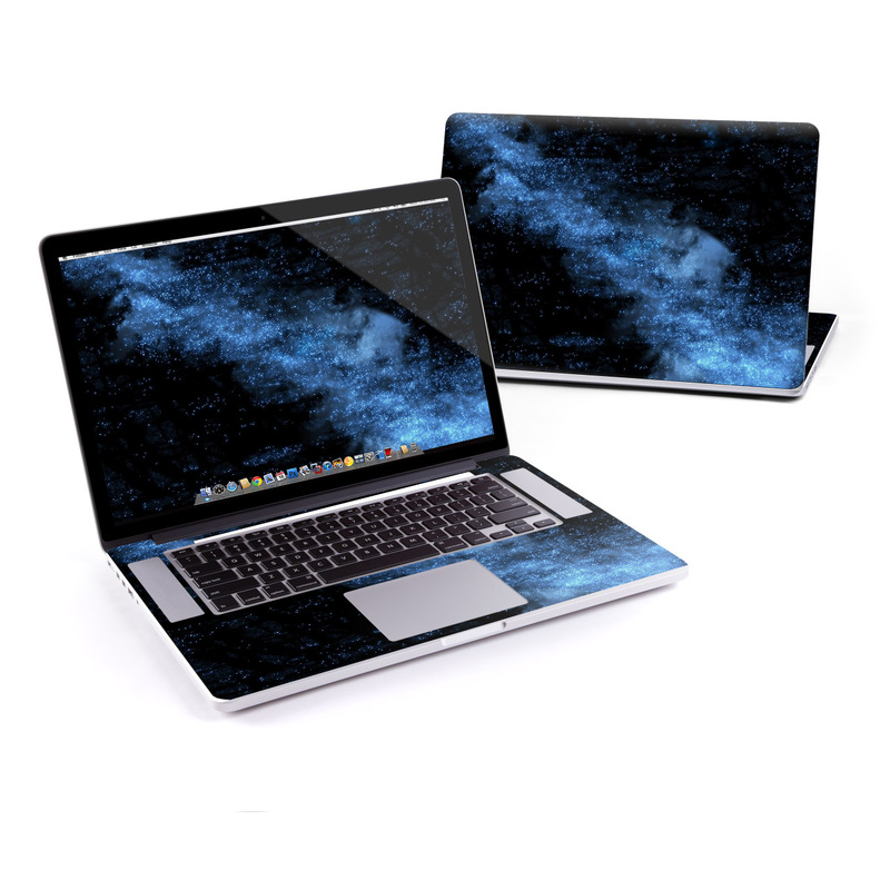 MacBook Pro Pre 2016 Retina 15-inch Skin design of Sky, Atmosphere, Black, Blue, Outer space, Atmospheric phenomenon, Astronomical object, Darkness, Universe, Space with black, blue colors