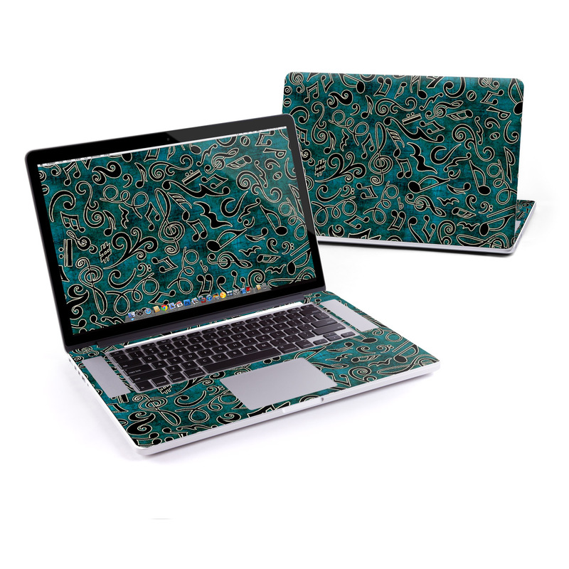 MacBook Pro Pre 2016 Retina 15-inch Skin design of Pattern, Blue, Turquoise, Aqua, Green, Teal, Design, Textile, Organism with black, gray, green, blue colors
